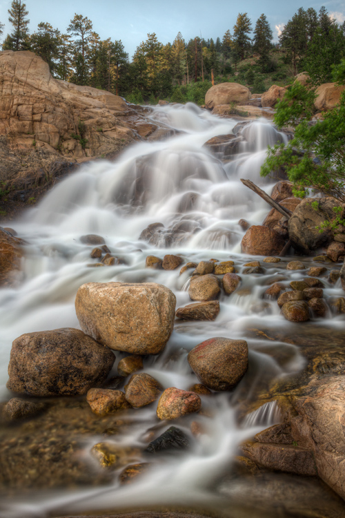 Photograph of the Alluvial Fan Cascade, Rocky Mountain National Park.