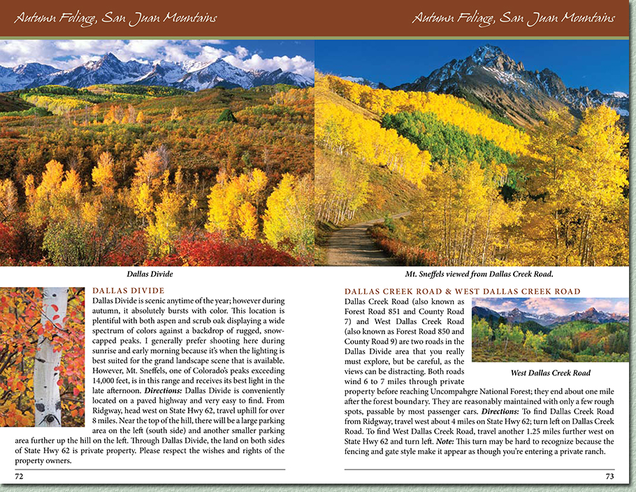 Colorado Autumn Photo Locations