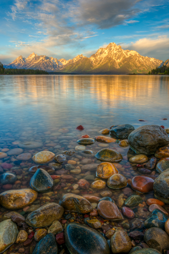 Image of the Tetons and Jackson Lake in Grand Teton National Park near Jackson, Wyoming.