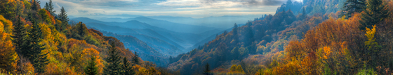 Great Smoky Mountains National Park Panoramic Photo