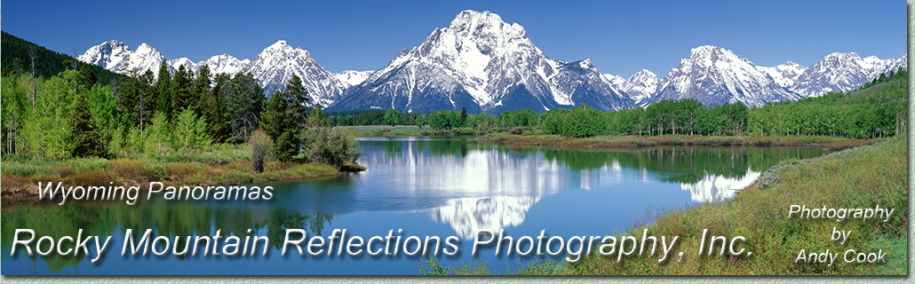 Welcome to a gallery of Wyoming, panoramic, landscape photography. Exquisite Photographs of Wyoming by landscape photographer Andy Cook.