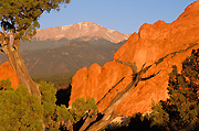 Photo of Garden of the Gods and Pikes Peak.