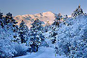 Photograph of Pikes Peak, Colorado.